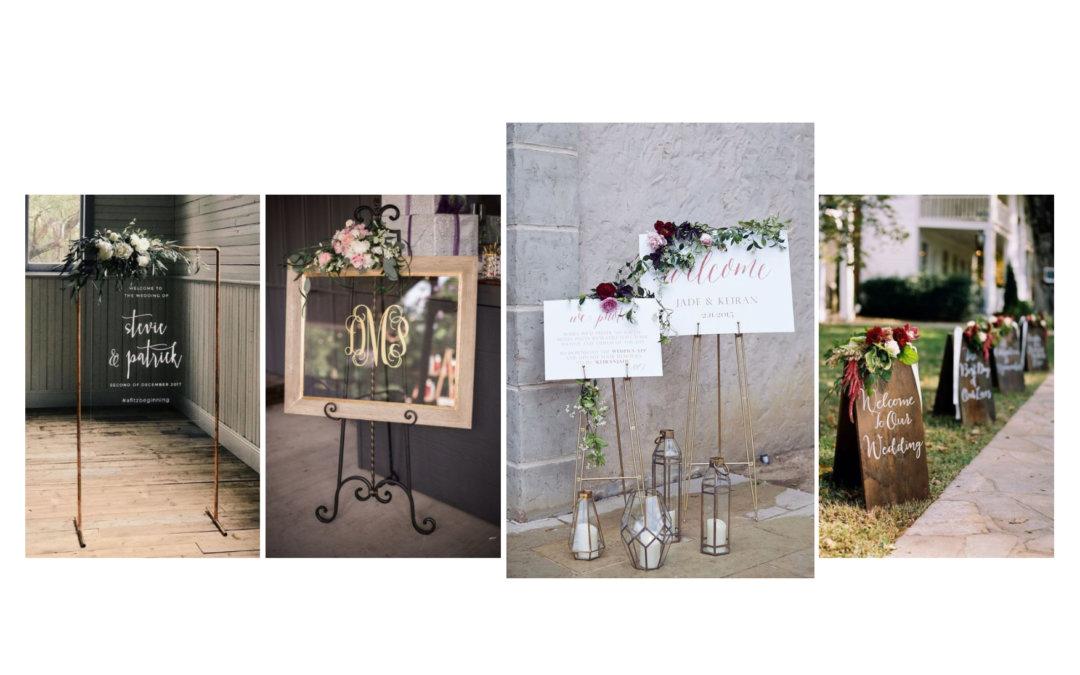DIY esküvői tábla
