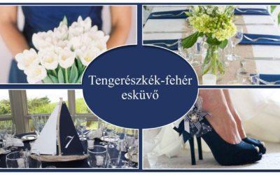 Tengerészkék-fehér esküvő